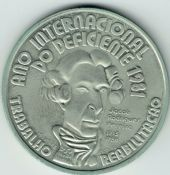 Portugal, 100 Escudos 1984 (Year of Disabled People), AUNC, BCM65